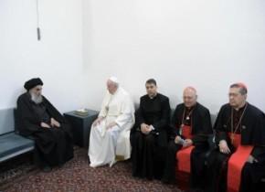 بيان صادر من مكتب سماحته (دام ظله) حول لقائه بالحبر الأعظم بابا الفاتيكان